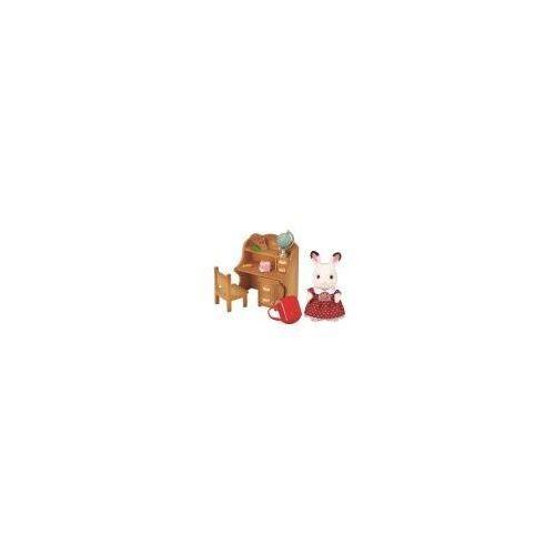 Sylvanian families zestaw z siostrą królików z czekoladowymi uszkami (biurko) - drogo? negocjuj na stronie! marki Epoch