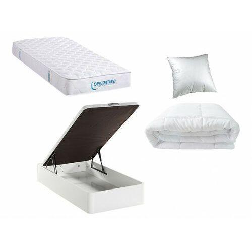Zestaw do spania prestige 90x190 cm - stelaż skrzyniowy hestia + materac piankowy + kołdra + poduszka marki Dreamea