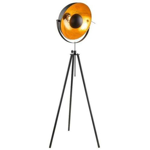 Stojąca LAMPA podłogowa LENN 58305 Globo sztalugowa OPRAWA na trójnogu kopuła retro czarna