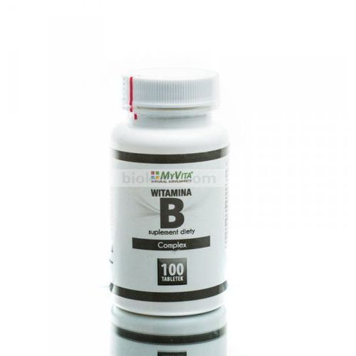 Witamina B Complex B1 B2 B6 B12 BIOTYNA 100 tabletek MyVita (5905279123816)