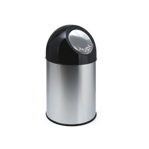 Pojemnik na odpady push, stal szlachetna, poj. 30 l, bez pojemnika wewnętrznego, marki Vepa bins