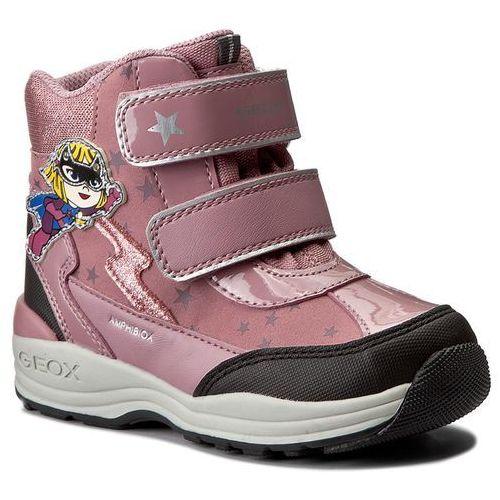 Śniegowce GEOX - B N.Gulp G.B Abx B B741FB 0BC50 C8F9B Dk Pink/Black, kolor różowy