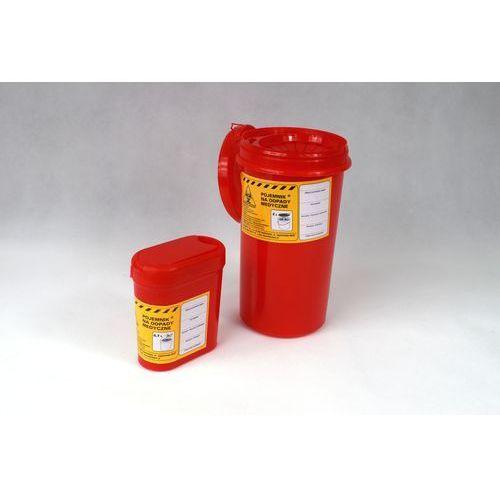 Pojemnik na jednorazowe odpady medyczne, WIELKOŚĆ: 0,7 L, POJEMNIKI