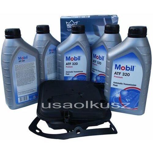 Mobil Półsyntetyczny olej atf320 oraz filtr oleju skrzyni biegów 4-spd dodge nitro 3,7