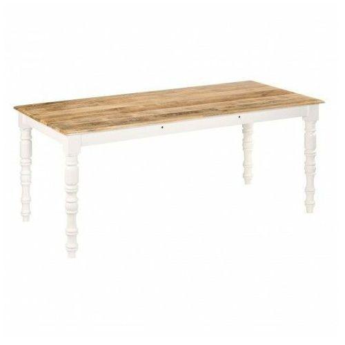 Stół klasyczny drewniany Mariz 2X – brązowy, vidaxl_246272