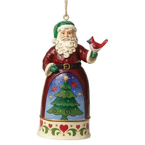Mikołaj z ptaszkiem i choinka zawieszka Mini Santa With Cardinal 4051492 Jim Shore