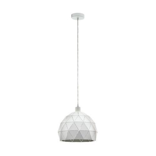 Lampa wisząca Eglo Roccaforte 97854 sufitowa 1x60W E27 biała, kolor Biały