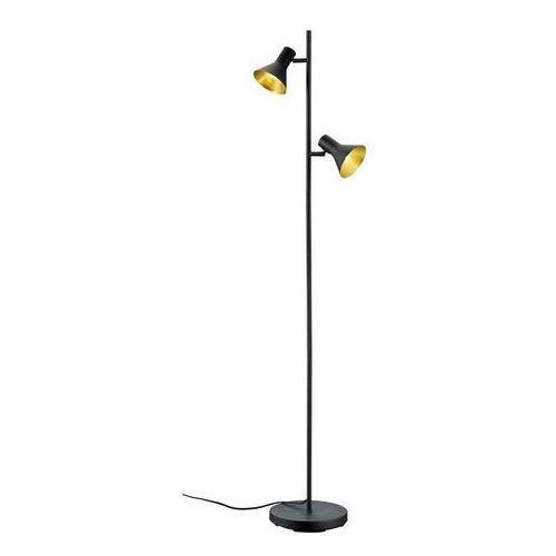Lampa podłogowa Trio Nina R40162002 2x28W E14 czarna/złota, R40162002