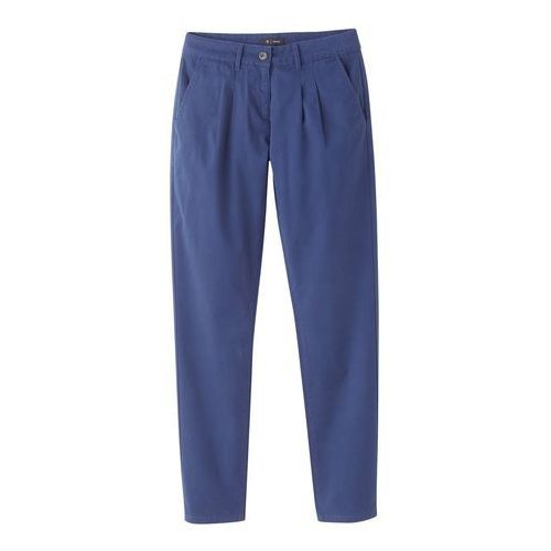 Spodnie chinosy z zaszewkami, kolor beżowy