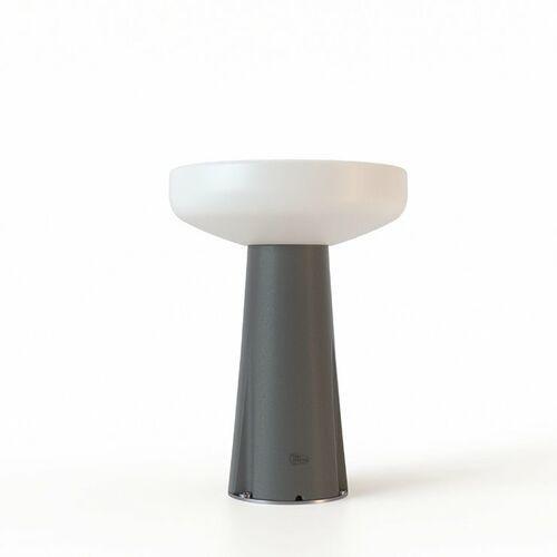 Paquita-lampa stołowa zewnętrzna metal led solarna akumulatorowa z czujnikiem ruchu i pilotem wys.40cm marki New garden