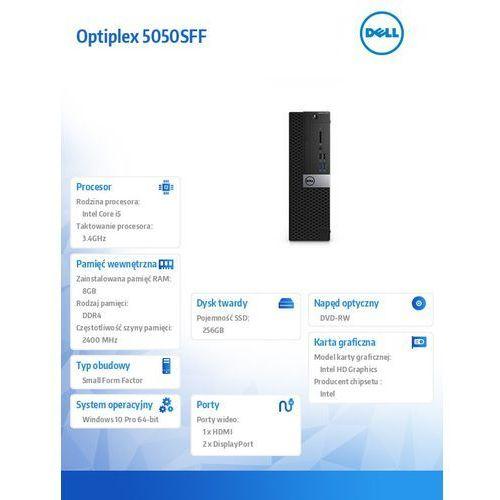 Dell Optiplex 5050sff win10pro i5-7500/256gb ssd/8gb/dvdrw/hd630/ms116/kb216/3y nbd