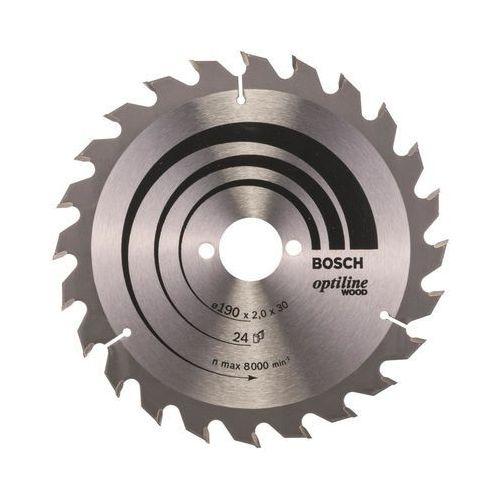 Bosch accessories Tarcza do piły tarczowej optiline wood, 190 x 30 x 2,0 mm, 24 2608641185, 1 szt. (3165140373678)