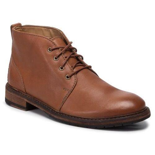 Trzewiki CLARKS - Clarkdale Base 261456387 Dark Tan Leather, w 8 rozmiarach