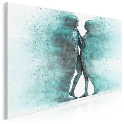 Metafizyka miłości w turkusach - nowoczesny obraz na płótnie, 38402