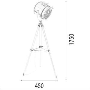 Spotlight Lampa stojąca movie 1224127 aluminiowy + darmowy transport!