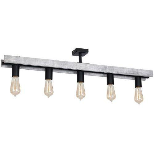 Luminex Plafon gera 8279 lampa sufitowa 5x60w e27 czarny / szary (5907565982794)