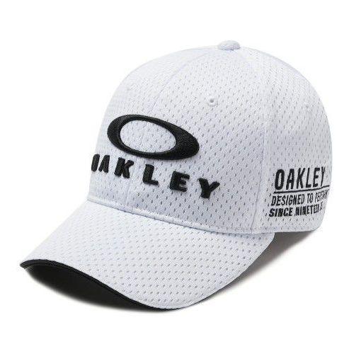Czapka z daszkiem Oakley BG Fixed Cap White 912128-100, kolor biały
