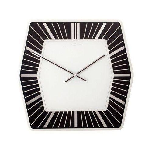 Zegar ścienny Hexagon ciemny, 8128zw