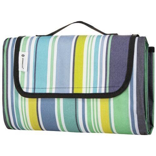 Springos Koc piknikowy plażowy 130x170 cm mata kolorowe pasy (5907719417929)