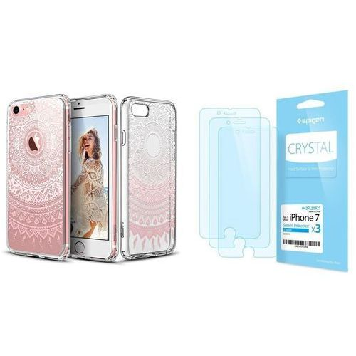 Esr Zestaw | etui art case pink mansjusaka + folia spigen crystal film - iphone 7 / 8