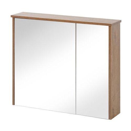Szafka łazienkowa z lustrem 85 cm, deco kolor dąb lefkas marki Comad