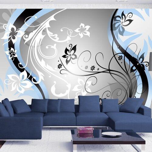 Artgeist Fototapeta - kwietne esy-floresy (niebieski)