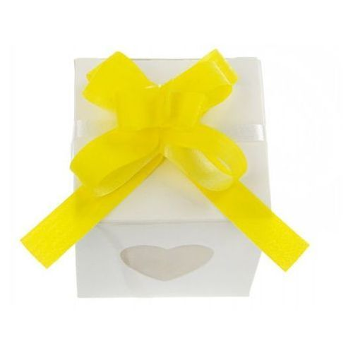 Ap Wstążki ściągane na ślub - żółta 1 cm 50 szt.