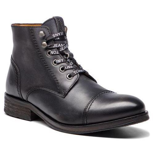 Trzewiki - dressy leather lace em0em00136 dark shadow 028, Tommy jeans, 40-46