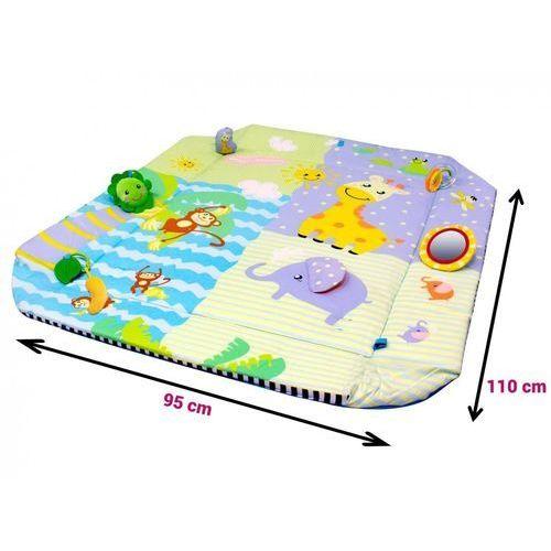 OKAZJA - Moby system Mata edukacyjna szczęśliwe zwierzaki plus piłki 5 w 1 (5907222954621)
