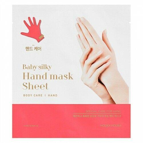 baby silky hand mask sheet 15ml marki Holika holika