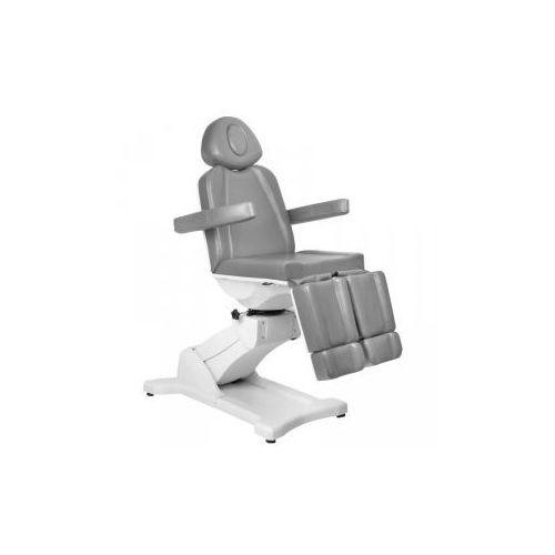 Fotel kosmetyczny elektr. azzurro 869as pedi obrotowy 5 siln. szary marki Vanity_a