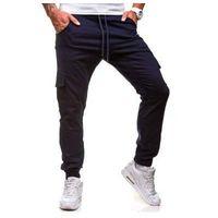 Spodnie joggery bojówki męskie granatowe Denley 0404gbr