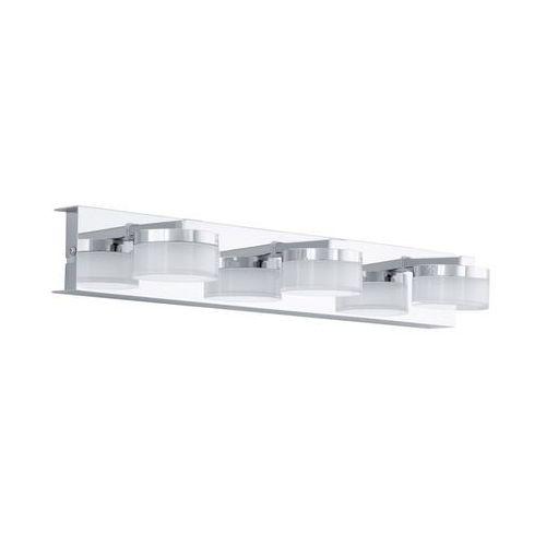 romendo lampa ścienna led chrom, 3-punktowe - 1440 lumenów - nowoczesny - obszar wewnętrzny - romendo - 3000 kelwin, marki Eglo