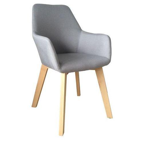 Krzesło tapicerowane z podłokietnikami Stone light grey, QS-D4062-1-3LG