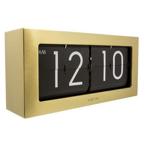 Zegar stołowy Big Flip złoty, 5198GO