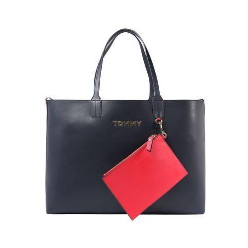 torba shopper 'iconic tommy tote' ciemny niebieski / czerwony marki Tommy hilfiger