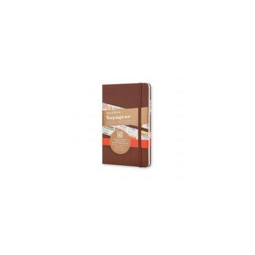 Notatnik Moleskine Voyageur M, tawrda okładka, brązowy