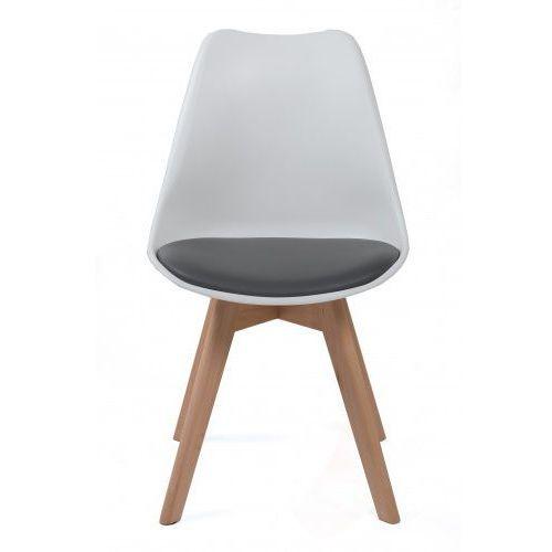 Meblemwm Nowoczesne krzesło 53e-7 biało-szare