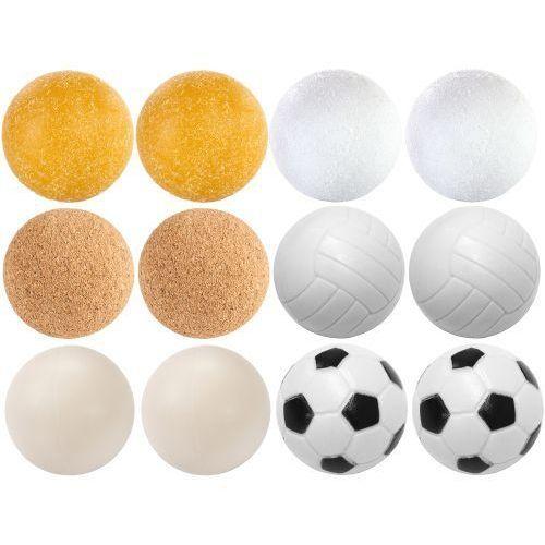 Zestaw piłeczek do piłkarzyków różne rodzaje 12 szt. 35 mm