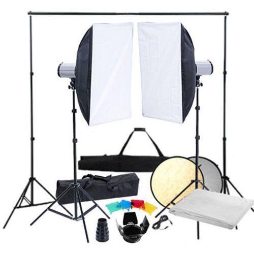Vidaxl  zestaw studio: 2 lampy, softboksy 50 x 70 cm i statywy (8718475821731)