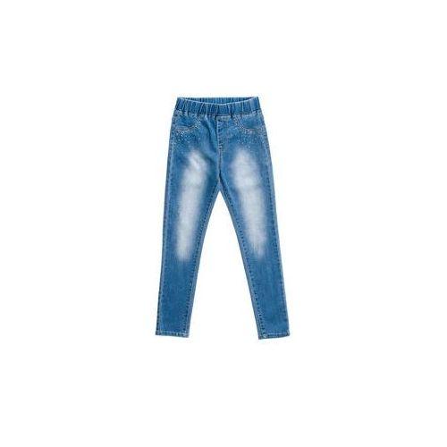 Spodnie jeansowe dziewczęce niebieskie denley pps101 marki Happy house