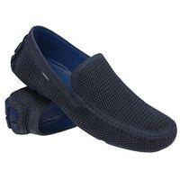 Mokasyny wsuwane buty 3081 granatowe - granatowy   niebieski marki Badura