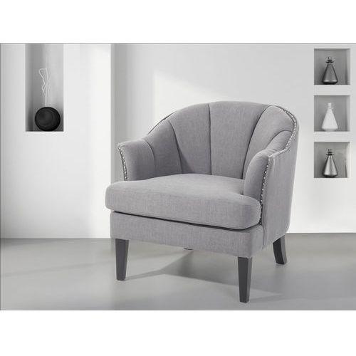 Fotel tapicerowany szary - krzesło - ELVERUM (7081451590947)
