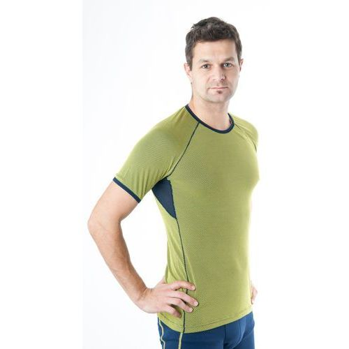 Löffler Bielizna termoaktywna transtex light man short sleeve żółty/niebieski 52
