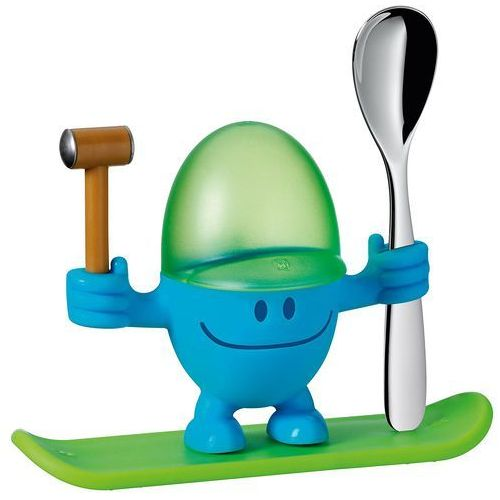 WMF - Kieliszek na jajko z łyżeczką, niebieski (4000530606389)