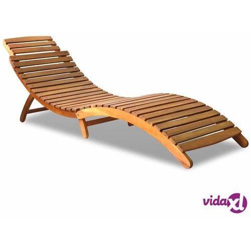 vidaXL Leżak, lite drewno akacjowe (8718475606949)
