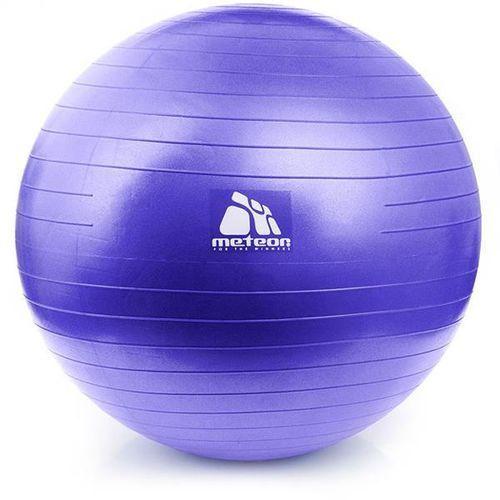 Piłka Gimnastyczna Pilates + Pompka METEOR 75 cm - Fioletowy