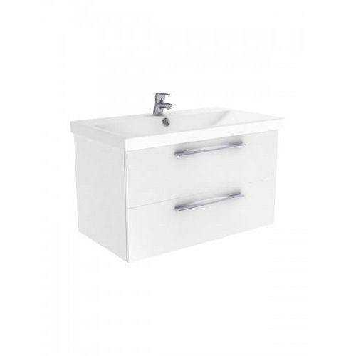 New Trendy Notti szafka wisząca + umywalka biały połysk 90 cm ML-8086/U-0091
