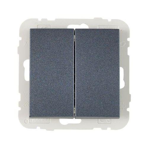 Efapel Włącznik podwójny logus 90 grafit
