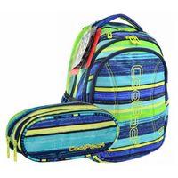 Zestaw plecak młodzieżowy+saszetka dwukomorowa - blue lagoon marki Patio
